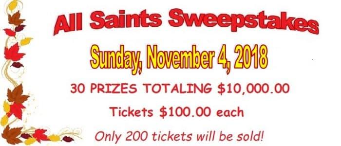 It's Sweepstakes Time! | All Saints Catholic Parish